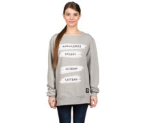 Perfect Sweat Knowledge Speaks Sweater grey melange