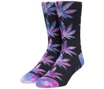 Plantlife Tiedye Leaves Socks black
