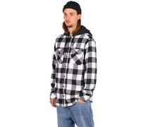 Prime Hooded Flannel Shirt white