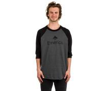 Skateboard Raglan T-Shirt schwarz