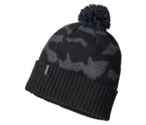 Powder Town Beanie aerial camo hat: black