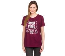 Good Vibes T-Shirt maroon