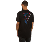 Retro Panther T-Shirt schwarz