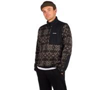 Weather Printed Half Zip Sweater black zip