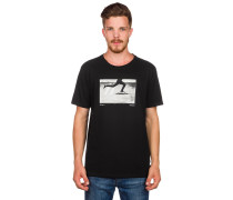 Push Photo T-Shirt schwarz