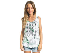 Tropical Tank Top weiß