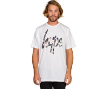 Depht Flowers Script T-Shirt weiß