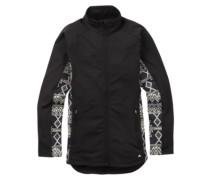 Crystal Collar Zip Jacket true black mojave