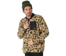 Grove Fleece Jacket duck camo jacquard
