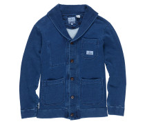 Indigo Fleece Cardigan Jacke blau