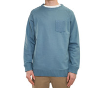 Pocket Crewneck Sweater blau