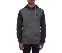 Single Stone Zip Hoodie dark grey