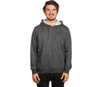 Wheeler Fleece Kapuzenjacke grau