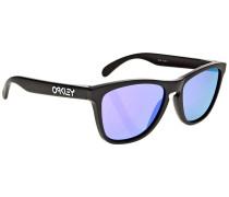 Frogskin matte black Sonnenbrille schwarz