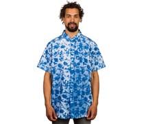 Blue Spotch Button Up Hemd blau