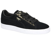 Suede Jewel Metalic Sneakers black