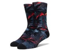 Outdoor Plantlife Crew Socks lava red