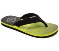 Ripper Sandals black on lime