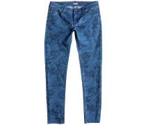 Suntrippers Printed Crop Jeans blau