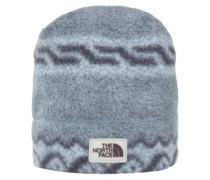 Sherpa Beanie monument grey woolen prnt