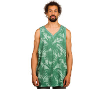 Palms Henley Tank Top grün