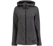 Fleece Kapuzenjacke grau