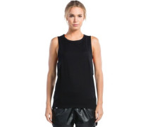Merino Kasey Relaxed Mesh Tank Top black