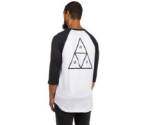 Triple Triangle Raglan T-Shirt LS white navy