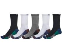 Evan Crew 5Pk Socks black