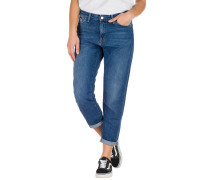 Domino Ankle Jeans dark stone washed