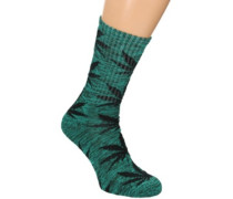 Melange Plantlife Crew Socks green black