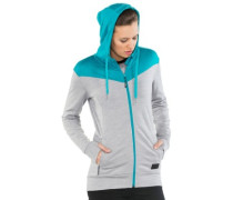 Merino Covert Mid-Hit Zip Hoodie grey marl