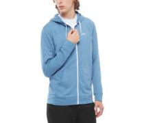 Core Basics Knit Zip Hoodie copen blue