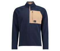 Tuned Fleece Pullover blau