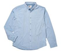 Washed Out Hemd blau