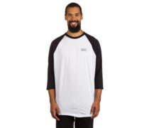 Bar Logo Raglan T-Shirt LS white black
