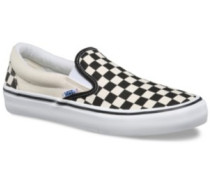 Checkerboard Slip-On Pro Skate Shoes whit