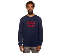 Welsh Crew Sweater blau