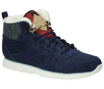 Classic Leather Mid Outdoor Shoes Frauen blau