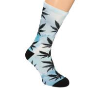 Digital Plantlife Crew Socks sky blue