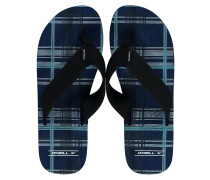 Imprint Check & Stripe Sandalen