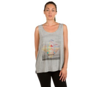 Triangle Print Tank Top silver melee