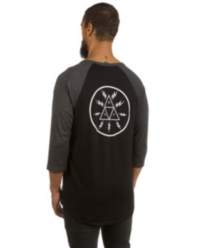 Bolt Triangle Raglan T-Shirt LS charcoal heather