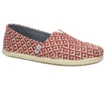 Seasonal Classics Slippers Women red diamond geo