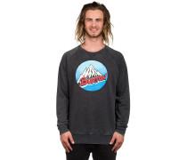 Retro Mountain Crew Sweater schwarz
