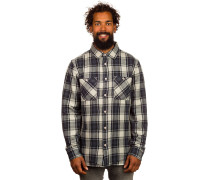 Binary Flannel Hemd grau