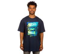 Stenciled II T-Shirt blau