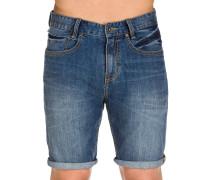 Outsider 5 Pockets Denim Shorts blau