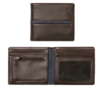 Coastal Showdown Bi-Fold Zip Wallet brown