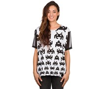 Space Caded Shirt schwarz